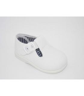 Lona sandalia blanco
