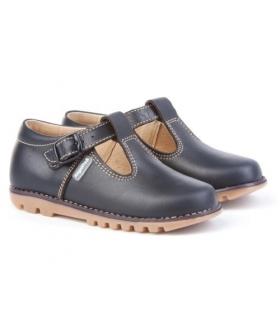 Zapato tipo kikers piel azul marino