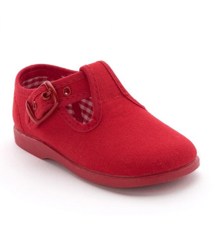 Lona sandalia rojo