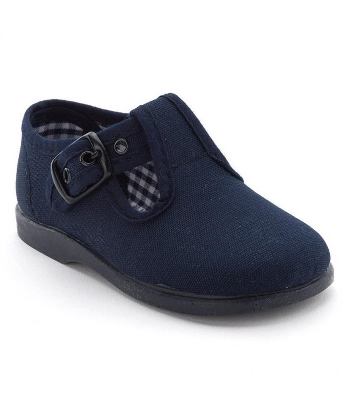 Lona sandalia azul marino