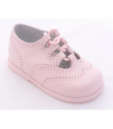 Zapato inglés rosa