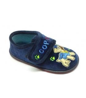 Zapatilla de casa azul marino Patrulla Canina