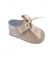 Zapato serraje-charol camel sin suela