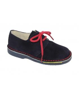 Zapato serraje marino-rojo