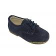 Zapato blucher serraje azul