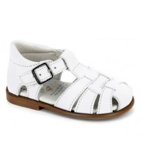 Sandalia piel blanca Pablosky
