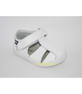 Sandalia piel lavable blanca