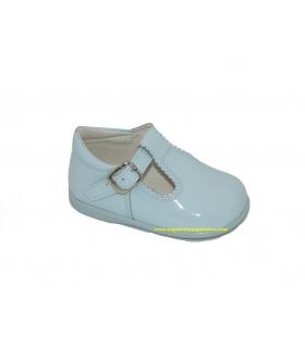 Zapato pepito charol azul celeste