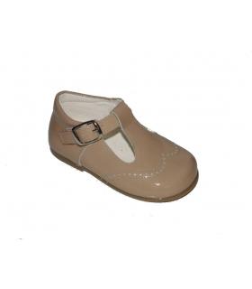 Zapato pepito charol camel
