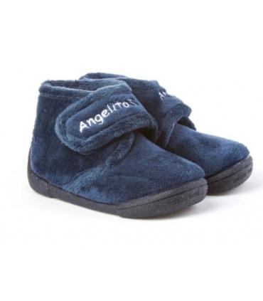 Zapatilla de casa azul marino Angelitos