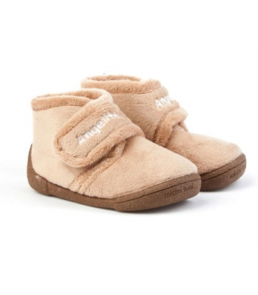 Zapatilla de casa camel Angelitos