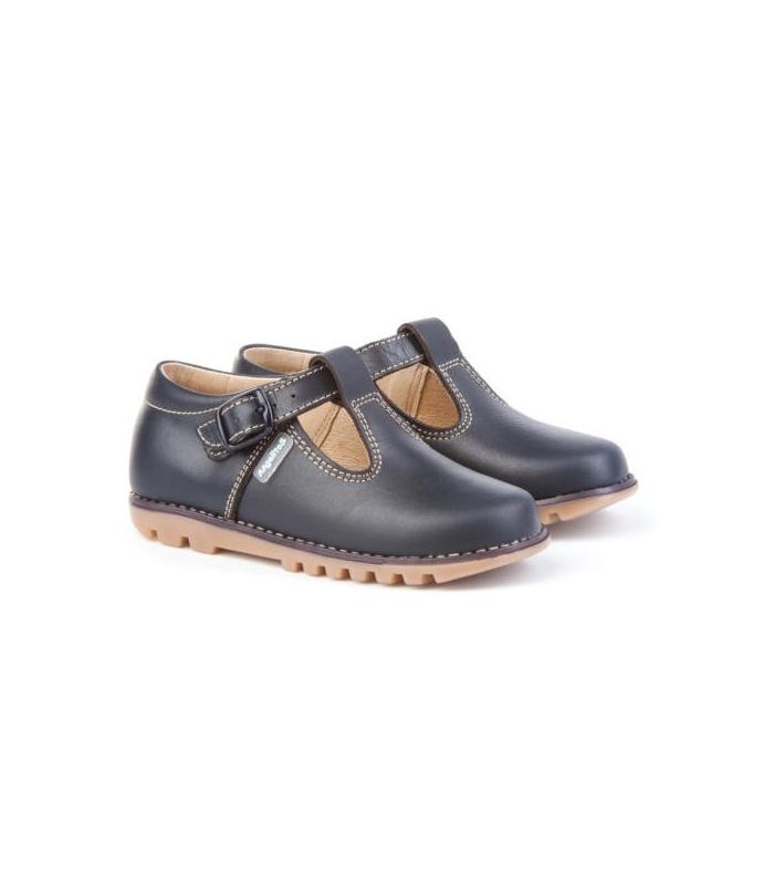 Zapato tipo kikers piel camel