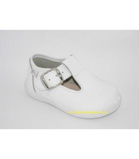 Zapato pepito piel lavable blanca
