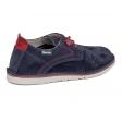 Zapato serraje azul marino-rojo