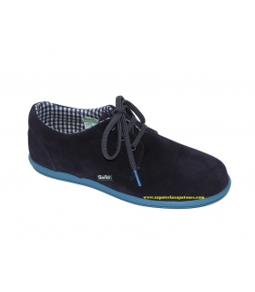 Zapato serraje azul marino-royal