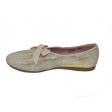 Zapato blucher serpiente vainilla