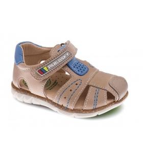 Sandalia piel beige piedra