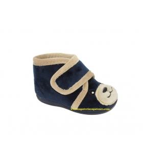 Zapatilla de casa oso azul marino
