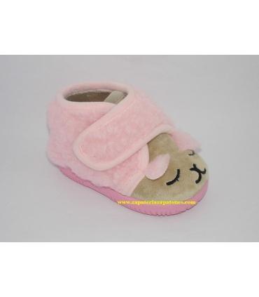 Zapatilla de casa oveja rosa