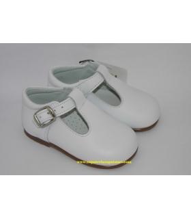 Zapato pepito piel blanco